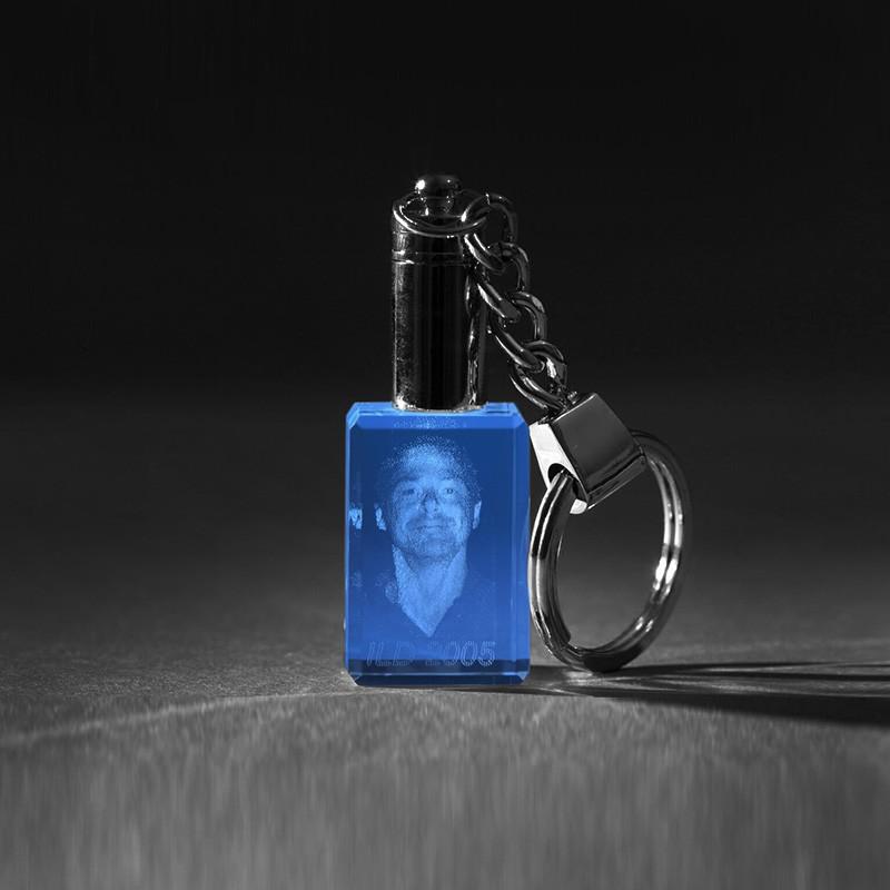 3d crystal portrait 3d laser foto in glas led schl sselanh nger. Black Bedroom Furniture Sets. Home Design Ideas
