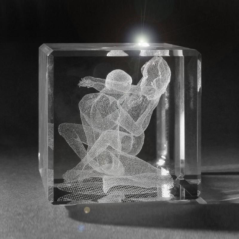 D Laser Glass Photo