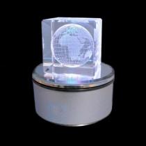 3D Crystal Drehleuchtsockel mit Farbwechsel