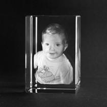 Ihr Foto in Glas graviert
