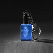 Ihr Gesicht als 3D Portrait Foto in Glas gelasert. LED Schlüsselanhänger