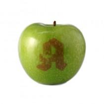 Logo Apfel Grün, Laser Obst, Gravierter Werbe Apfel