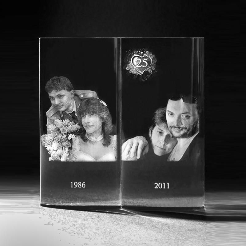3D Crystal Glasfoto – 2D Laser Foto, Laserbild im Fotobuch aus Glas