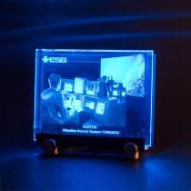 2D Laserfoto in Kristallglas graviert mit LEDs