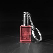 Foto in Glas LED Schlüsselanhänger rot