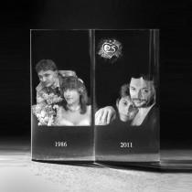 2D Laser Foto in Glas. Glasfoto in Fotobuch von 3D Crystal