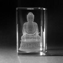 3D Lasergravur Buddha in Kristallglas