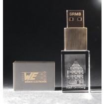 USB Stick mit Wunschbild 3D Lasergravur