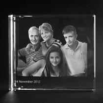 3D Portrait von Ihrem Foto. Glas 170mm