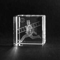3D Kristall Glücksbringer. Kaminkehrer in Glas
