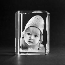 3D Glasfoto Lasergravur von Ihrem Bild.