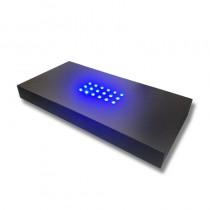 3D Laserglas LED Beleuchtung Sockel schwarz blau