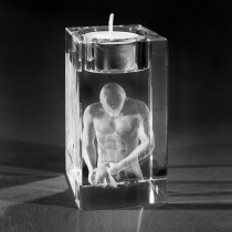 3D Laserglas mit Gravur Apoll. 3D Kristall gelasert
