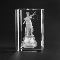 3D Laserglas Justicia, Souvenir und Geschenkidee aus Glas