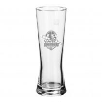 Bierglas mit Logo Gravur. Lasergravur auf Gläser. Gravierte Trinkgläser