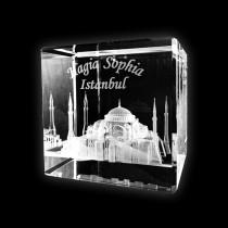 3D Kristall Glas Hagia Sophia Istanbul