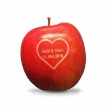 Ihr Motiv auf Äpfel graviert als Hochzeitsgeschenk, Deko oder Gastgeschenk für Ihre Hochzeit