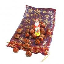 Aventskalender Nuesse, Haselnuss mit Logo Gravur. Lasergraviertes Obst