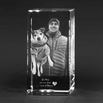 portrait bild in glas