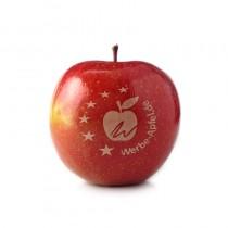 Logo Apfel rot, Werbe Apfel, Logo Obst, Ihr Logo auf Äpfel