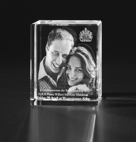 3D Foto Portrait in Glas