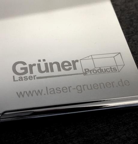 Laserbeschriftung und Gravur von Werbearikeln